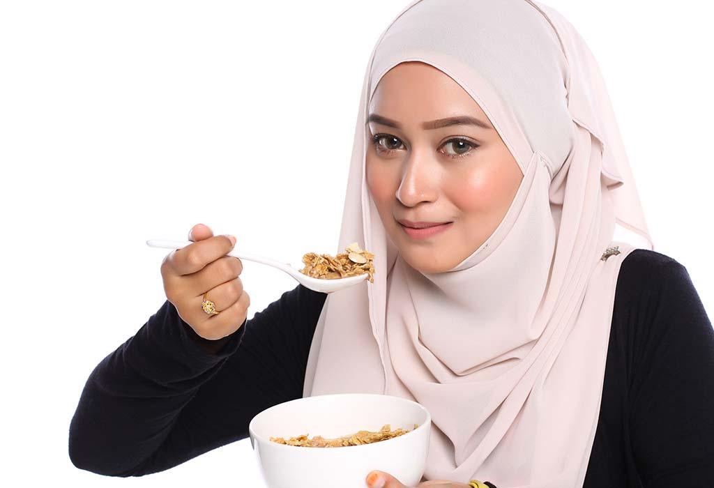 الطعام الذي تناولينه؟