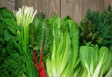 الخضروات الورقية الخضراء
