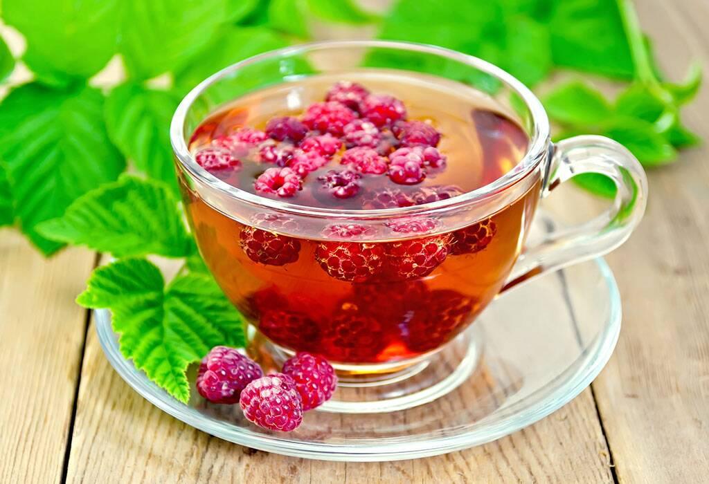 شاي أوراق التوت الأحمر