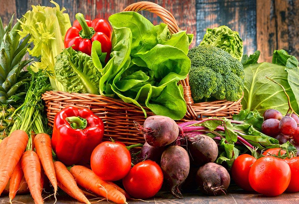 الخضروات والفواكه الطازجة