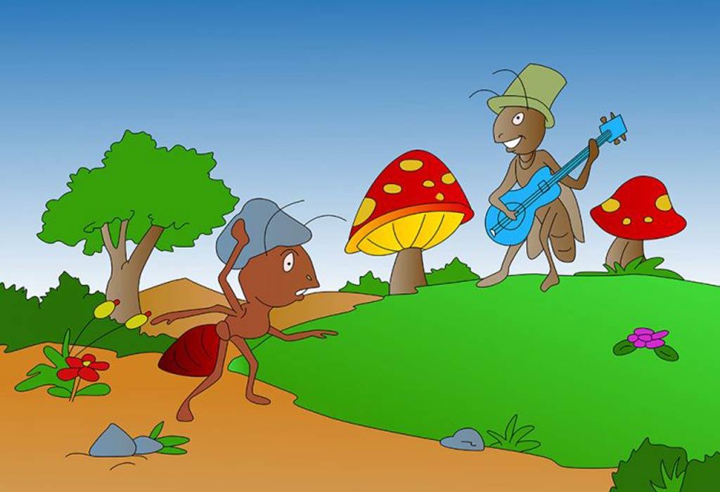 النملة والجراد