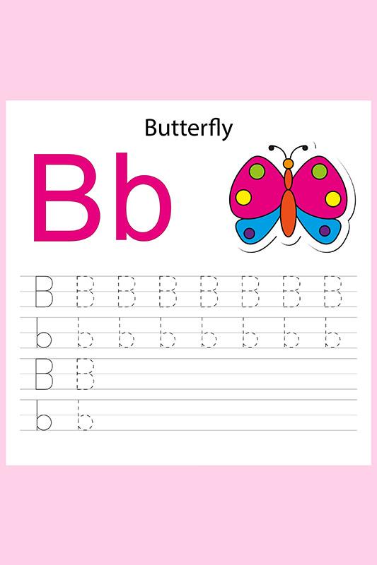 اجعل طفلك يكتب فوق الحروف التي كتبتها